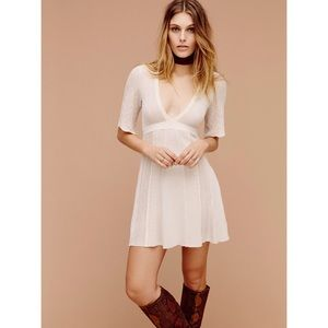 Free People Find Your Love Pointelle Mini Dress S